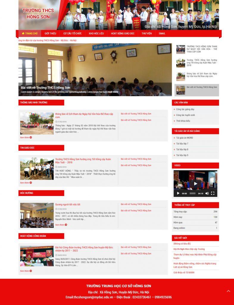 Web trường trung học cơ sở