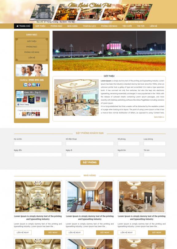 Thiết kế web khách sạn