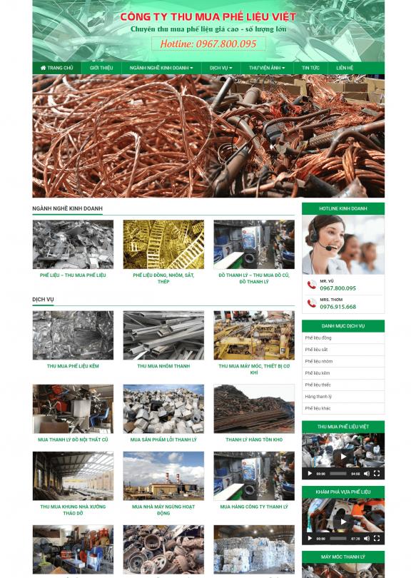 Công ty thu mua phế liệu – Việt